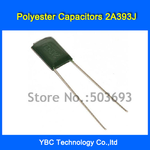 Free Shipping 500pcs/lot Polyester Film Capacitor 2A393J 100V 0 039UF 39NF