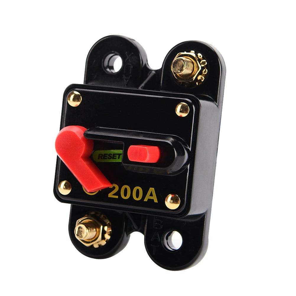 Waterproof 200 Amp Manual Reset Circuit Breaker Switch 12V Car SUV Marine Boat