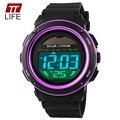 TTLIFE Hombres Watches1096 5ATM Digital Solar Power LED para Deportes de las mujeres de Cuarzo Resistente Al Agua reloj de Pulsera del relogio masculino Al Aire Libre