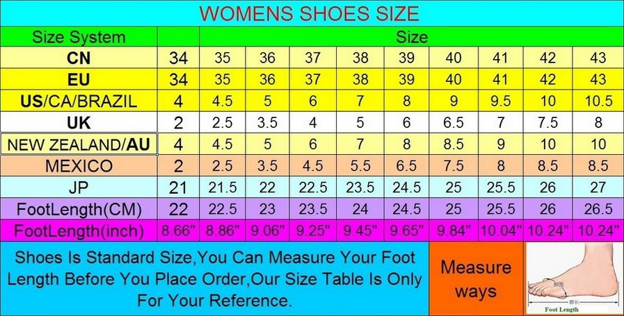 women size