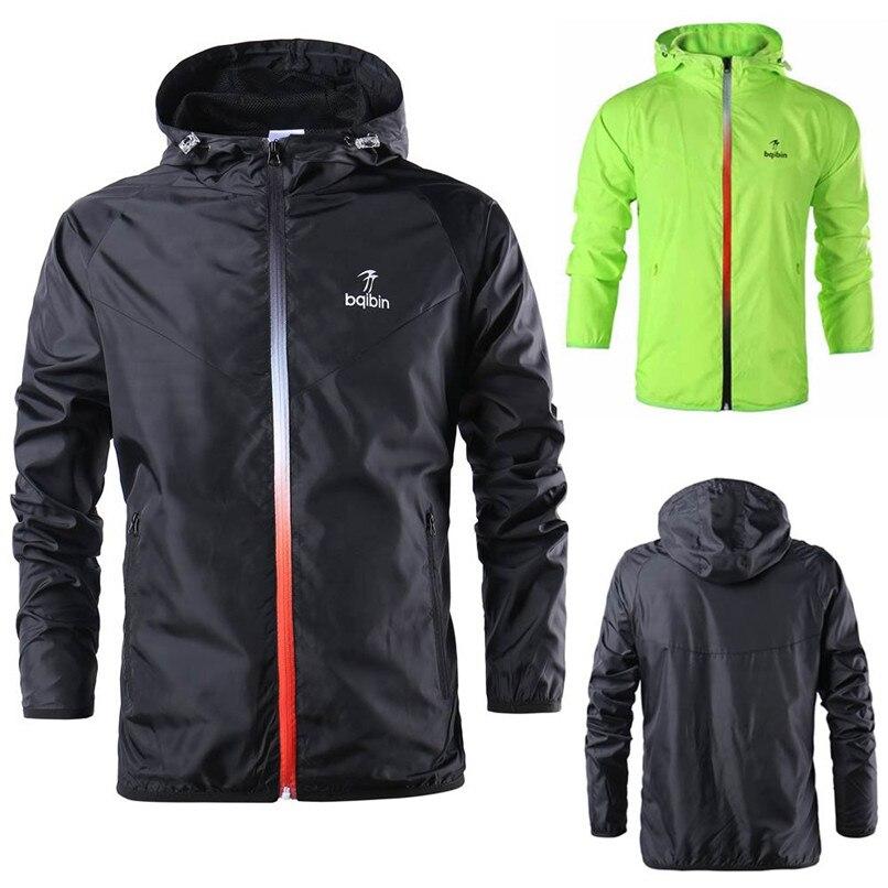 d77c44dfc Detail Feedback Questions about Mens Cycling Jackets Waterproof Full zipper  Sports Clothes Hooded Sweatshirt Tops Blouse Men Sportswear warm raincoat  ...
