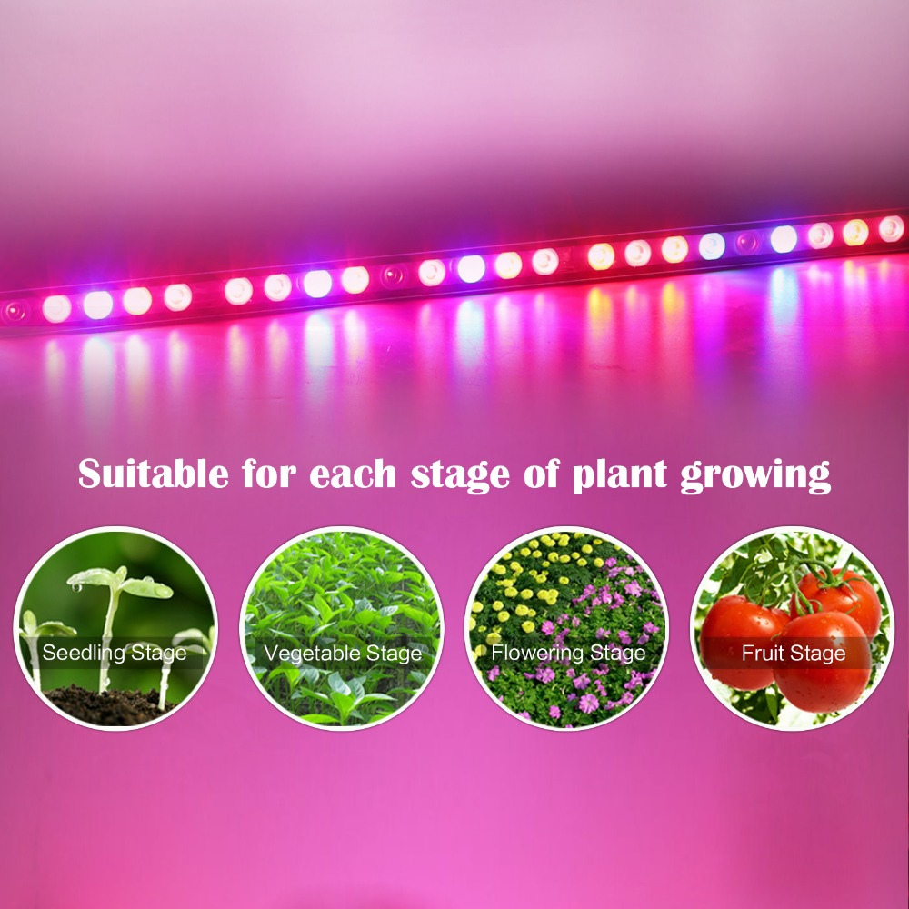 ФОТО Hot selling 108W waterproof UV+IR led grow light bar for hydroponic indoor grow box suitable for each stage of plants growing