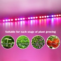 Hot selling 108W waterproof UV+IR led grow light bar for hydroponic indoor grow box suitable for each stage of plants growing