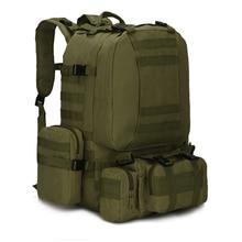 ROWLING MARKE Militärischen Rucksack Big Bag Rugzak Multifunktions Reisetasche Set Rucksäcke Männer Rucksack 50L MB003