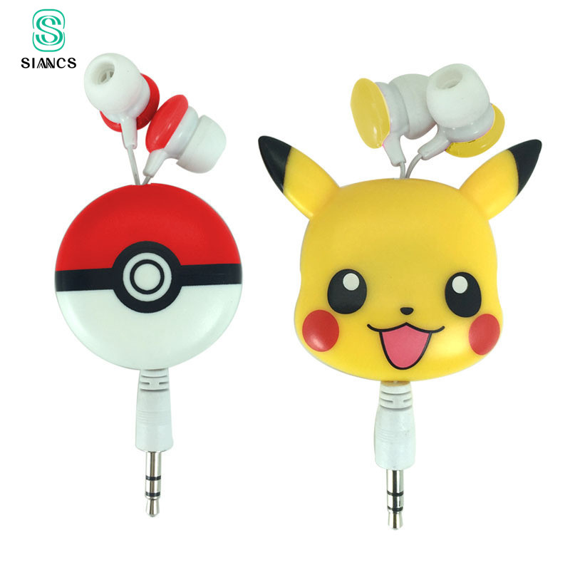 SIANCS Cute Cartoon Earphone Headset Earbuds In-Ear 3.5mm Wired Earpieces for iPhone 5 6 6s plus Sumsang MP3 Music Player cute cartoon totoro style in ear earphone white black grey