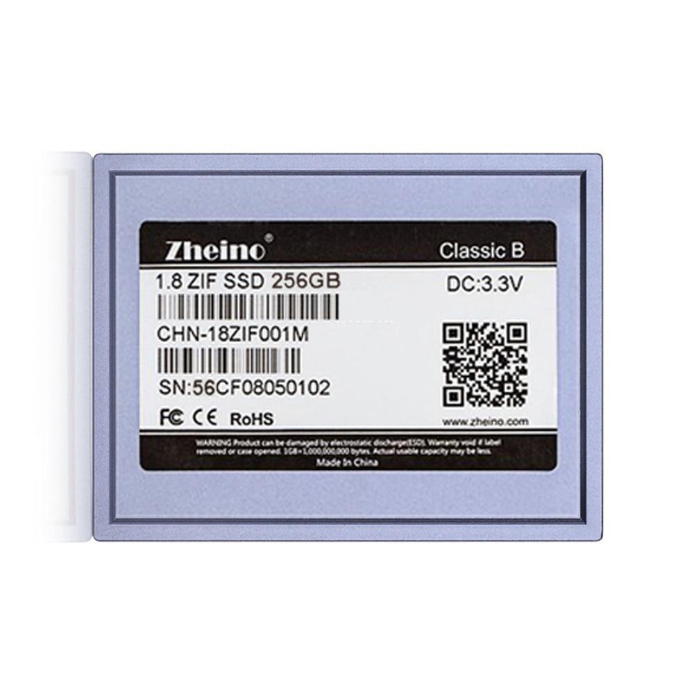 Zheino 1 8 SSD DISK PATA 256GB CE ZIF 40Pin MLC Solid State Drives replace MK2431GAH