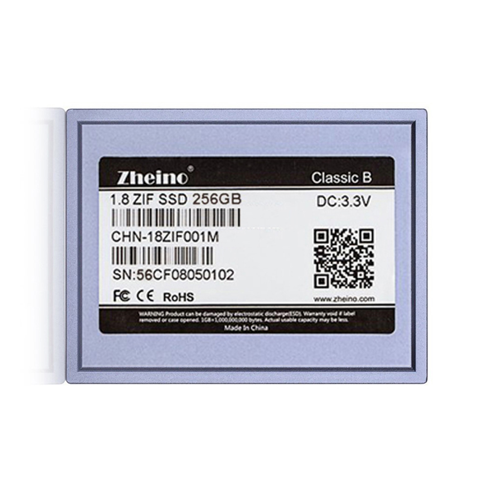 Zheino 1.8 SSD DISK PATA 256GB CE/ZIF 40Pin MLC Solid State Drives replace MK2431GAH for Ipod Video 5.5 Gen Free Shippin New ksm zif 6 128ms 128gb zif ce interface ssd module for ipod classic 6th 7th gen classic video 5th 505th logic board free shipping