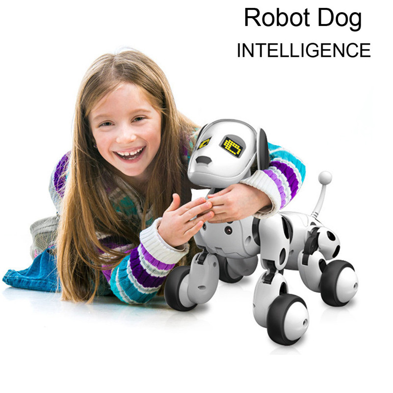 Nouveaux articles 2018 RC Smart Dog Chanter Danse Marche Télécommande Robot Chien Électronique Pet jouets pour enfants Cadeau D'anniversaire b2