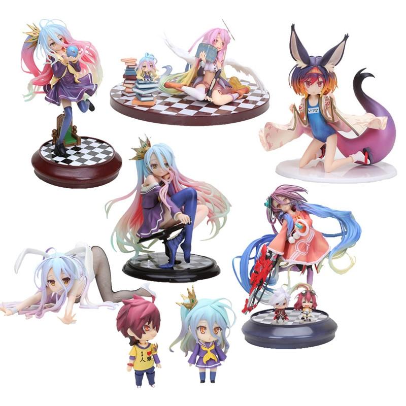 Anime Life No Game No Life Shiro Nendoroid Shiro 653# Game Of Life Painted Scale PVC Action Figure Character Model