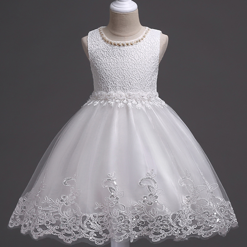 Lace Flower Formal Evening Gown Flower Wedding Princess Dress Girls Children Clothing Kids Dresses for Girl Clothes Tutu Party