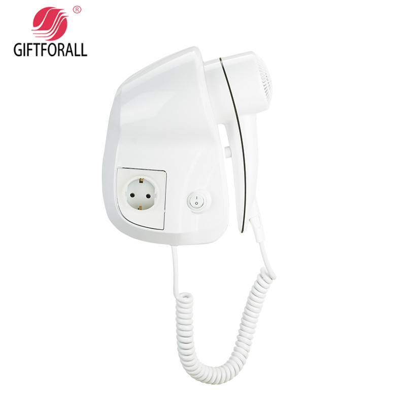 ФОТО GIFTFORALL Hairdryer Professional Styling Powerful Wall Mounted Portable Hotel Bathroom Home Hair Dryer