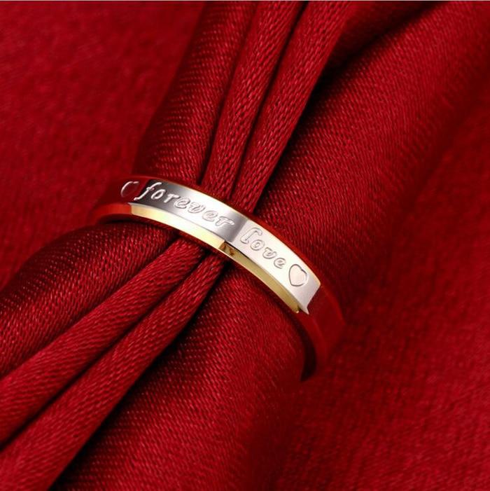 STORT 90% RABATT! Classic Forever Love Solid Gold Ring Engagement - Märkessmycken - Foto 5