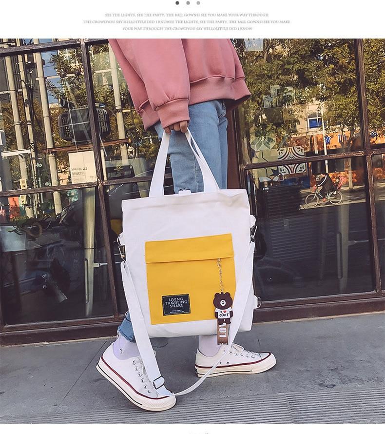 Bolsas de lona feminina sacos do mensageiro