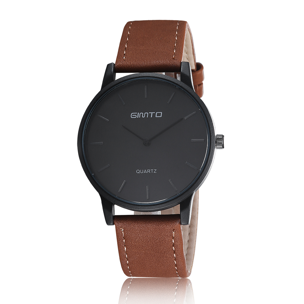 Business Casual Wristwatch Leather Strap Geneva Watch Simple Fashion Hodinky Men Classic 3 Colors Dresses Wrist