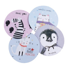 1Pc Cute Mouse Pad Putaran Kantor Mouse Pad Karet Komputer Anti-Slip Table Mat(China)