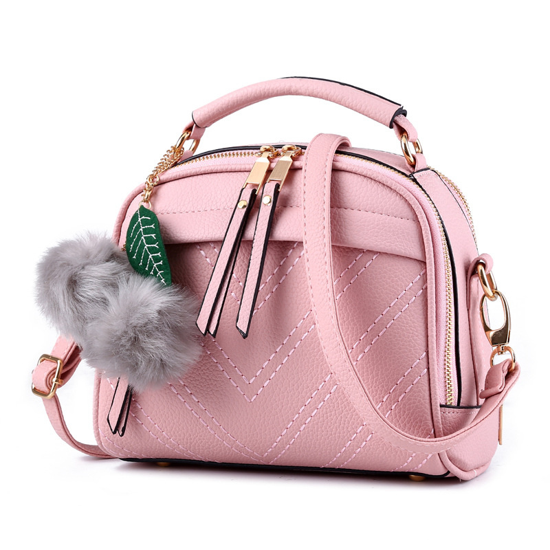 Cusual Light Pink PU Women Lady Shoulder Bag Fashion Handbag Crossbody Messenger Zipper Ajustable Straps fashion small rectangle pu women shoulder bag pink handbag crossbody messenger rivets decoration ajustable straps