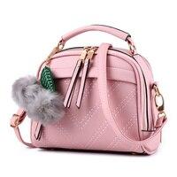 Cusual Light Pink PU Women Lady Shoulder Bag Fashion Handbag Crossbody Messenger Zipper Ajustable Straps