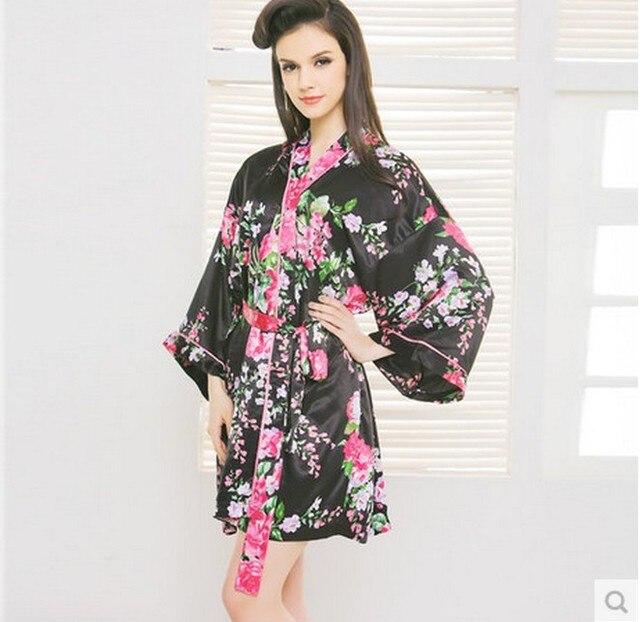 Бесплатная доставка Miduo женщины роскошный lmitated шелковые ночные рубашки пижамы нижнее белье пижамы халаты ночная рубашка 2255 # W