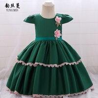 8acefe6003 0 To 2 Year Baby Dress Flower Party Princess Costume Kids O Neck Blue Red  Green. 0 do 2 lat dziecko sukienka Flower Party księżniczka kostium dla  dzieci ...