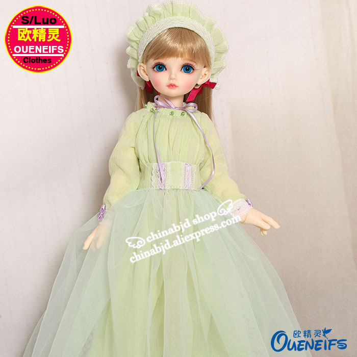 OUENEIFS free shipping ,Long sleeved dress,Fashion elegant baby clothes,1/4 bjd/sd doll clothes,no doll or wig YF4-138 oueneifs free shipping new floral princess dress skirt lace edge 1 8 bjd sd doll clothes have not wig or doll yf8 106 page 9