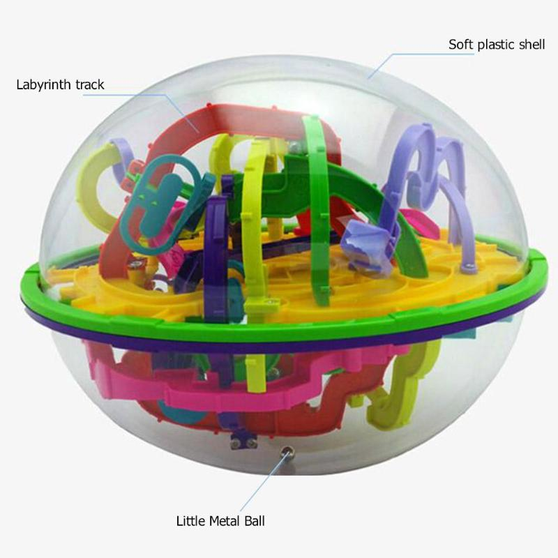 Image 5 - 100Step 3D Intellect Puzzle Ball MazeToys for Children  Labyrinth Magical Perplexus Ball Kids Educational Toys-in Puzzles from Toys & Hobbies