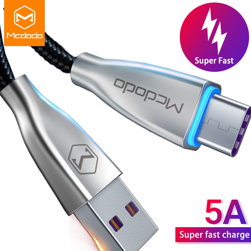 Mcdodo 5a Usb Type C Cable Spuer Fast Charging For Huawei