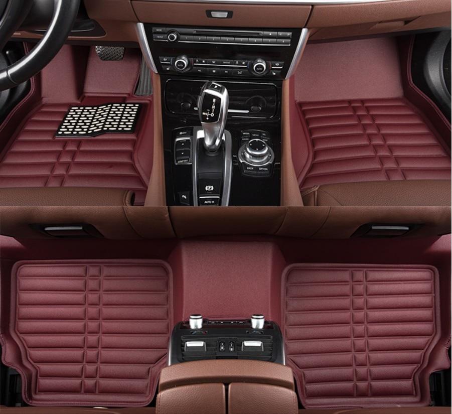 цены  Car Floor Mats For Peugeot 408 2014.2015.2016.2017 Foot Mat Step Mats High Quality Brand New Waterproof,convenient,Clean Mats