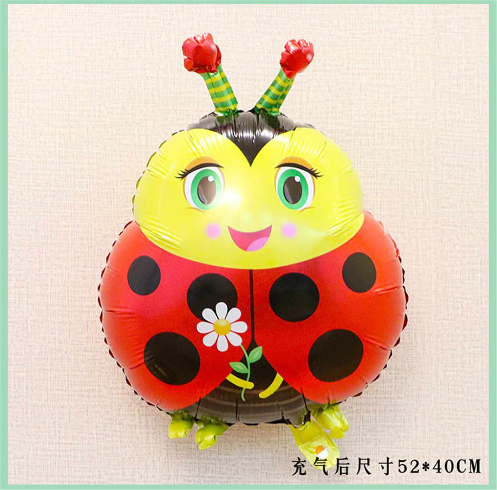 แมลงกบผึ้งบอลลูนสัตว์การ์ตูนหอยทากบอลลูนสำหรับตกแต่งโรงเรียนอนุบาลวันเกิดหมวกการ์ตูน