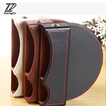 ZD Multifunction Car Seat Pocket Box Cover For Mercedes Benz W203 W211 W204 W210 BMW F10 E34 E30 F20 X5 E70 Charging Convenient image