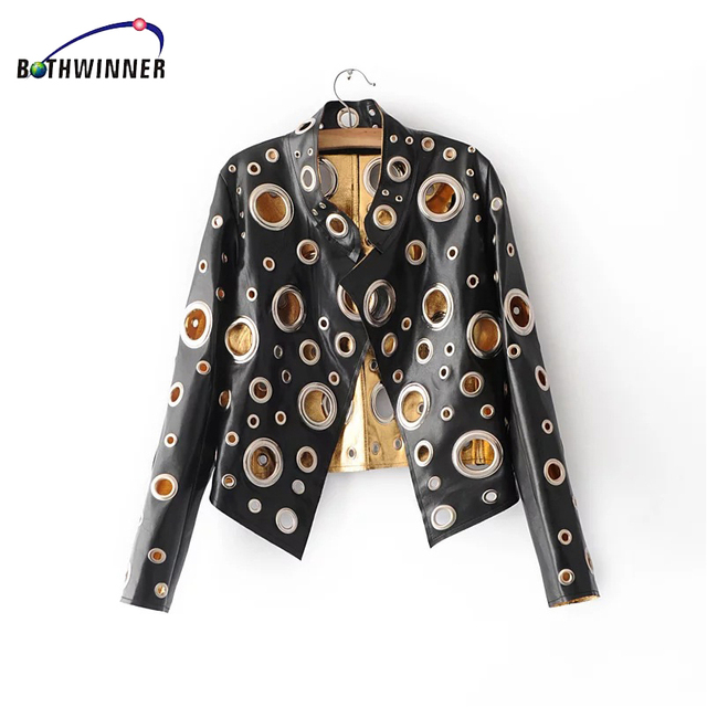 Bothwinner 2017 PU Leather Jackets Casual Female Biker Motorcycle Bomber Jacket Punk Hippie Heavy Metal Basic Jackets 1