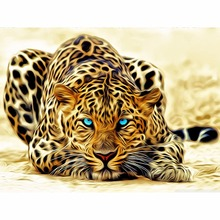 unframed Leopard animals DIY painting by numbers Acrylic picture wall art canvas home decor unique gift 40x50cm artwork