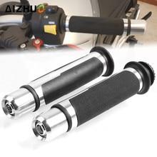 22mm Motorcycle Handle Grips CNC Aluminum Rubber Grips For Yamaha YZF R1 R3 R6 R15 R125 YBR 125 YZ 125 MSX 125 XJR FJR 1300 MT цена