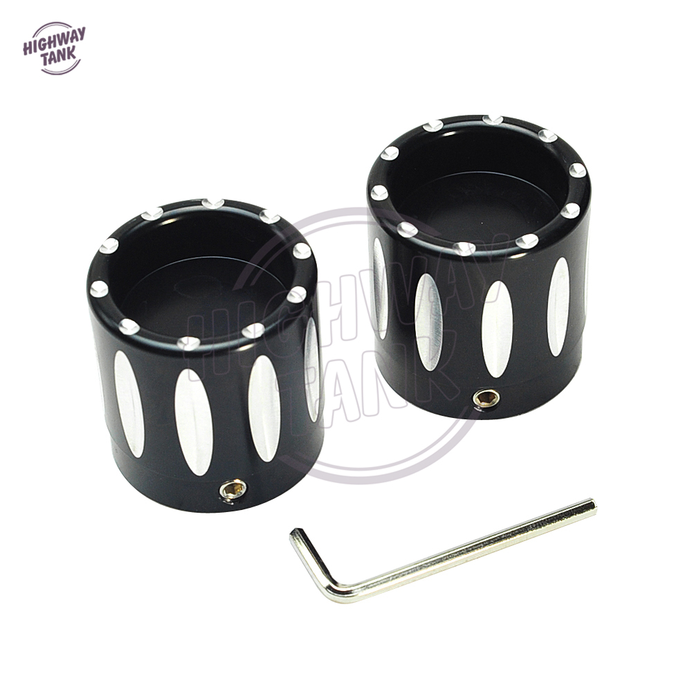 Motorcycle Front Axle Cap Bolt Nut Cover Case for Harley Davidson Electra Glides Street Glides Road King Sportsters 2008-2014