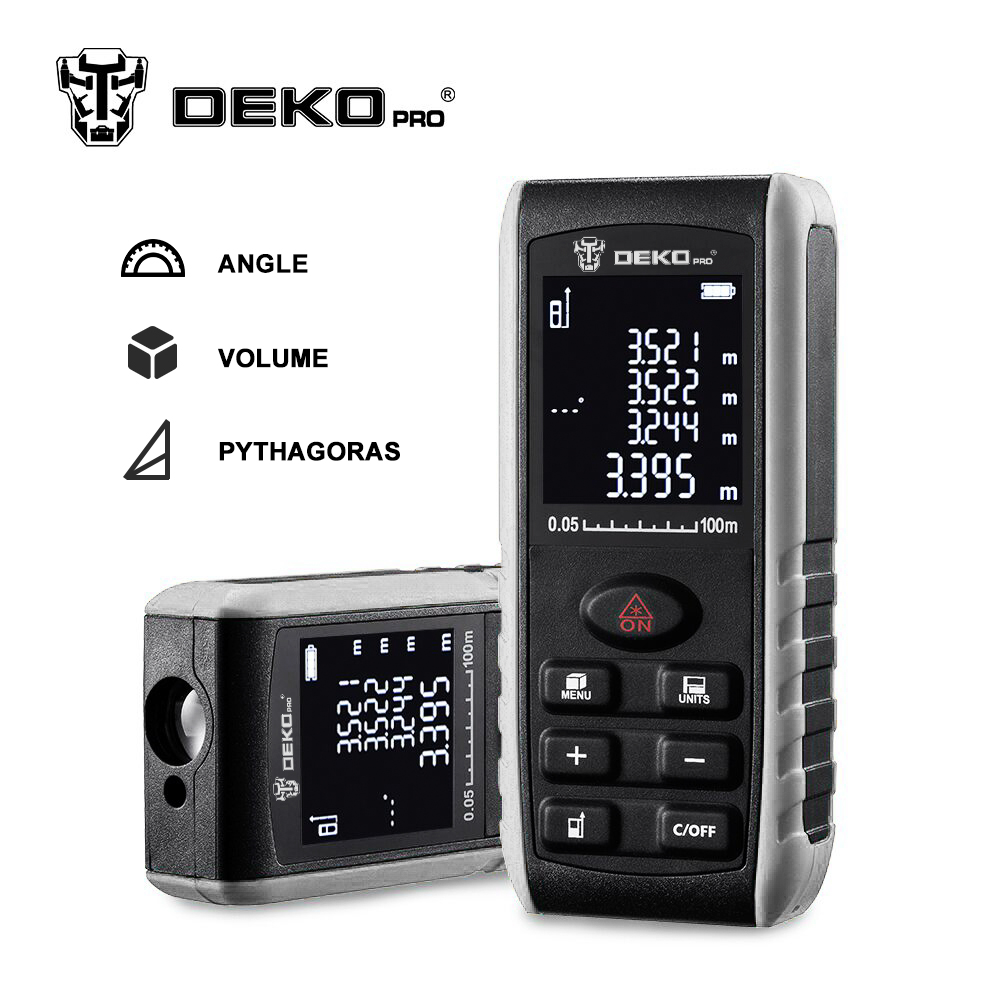 DEKOPRO LRE521 Handheld Laser Distance Meter Mini Laser Rangefinder Laser Tape Range Finder Diastimeter Measure 40M 60M 80M 100M цена