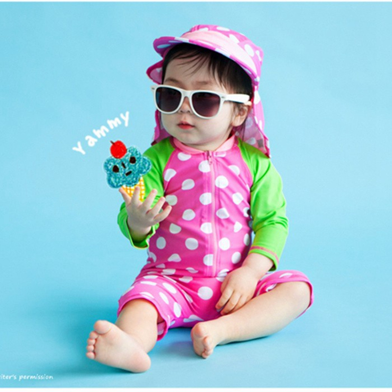 0860de5d4 0-36 months Baby Swimwear Anti-UV Sunblock Long Sleeve One Piece Swimsuit  Girl Beachwear Children Girls Swimsuits Swimming Suit | Babydreams