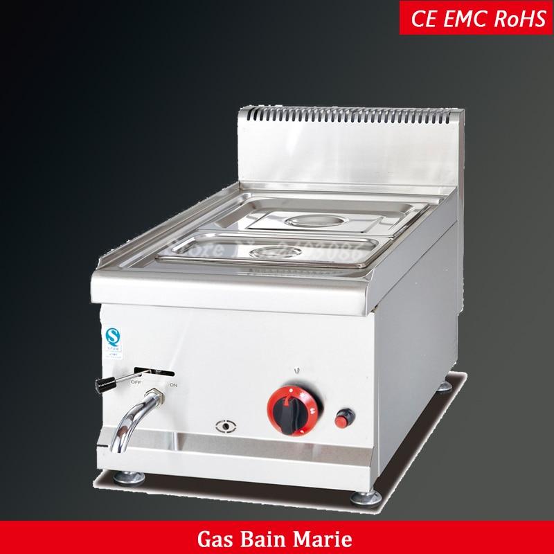 Großgeräte Gh544 Gas Bain Marie Mit 2 Pfannen Catering Ausrüstung