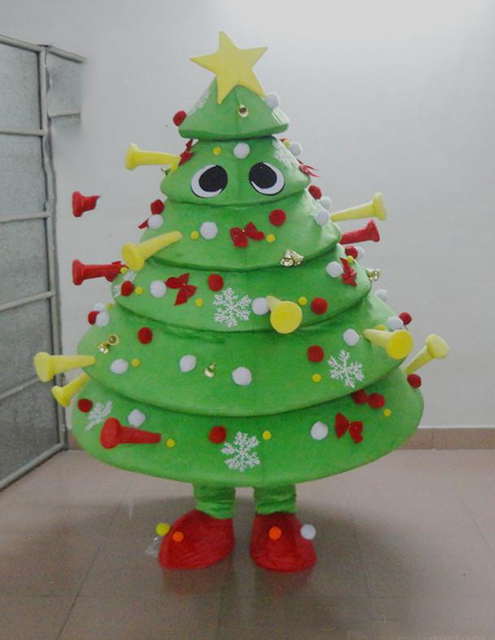 christmas tree mascot costume cutie christmas decorations carnival fancy dress kits suit - Christmas Decoration Kits