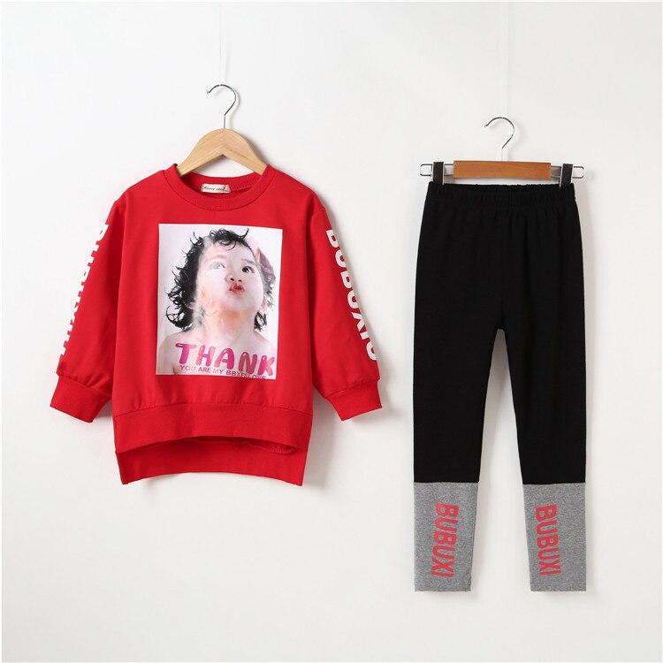 b49b621db0e57 2019 New Girls Leggings Suits 2 pieces Long Sleeve Fashion Print Girls  Sport Suit 5 6 8 10 12 Spring Fall Teenage Girls Clothing