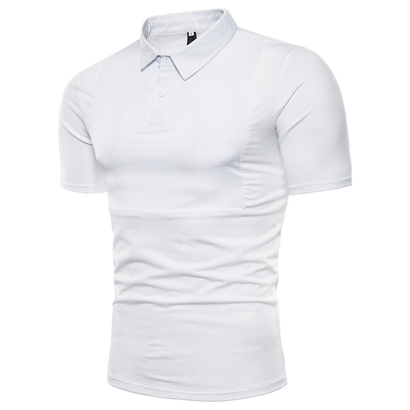 Summer Men's Solid Color Polo shirt men fashion cotton mens clothing  Short Sleeve Tops