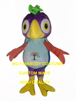 purple parrot mascot costume wholesale adult size cartoon parrot macaw bird theme anime cosplay costumes carnival fancy 2828