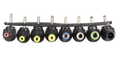 New Wholeasle Durable 8in1 90 Degree Angled Universal for DC for AC Plug Charger Tip Power
