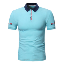 2018 summer style polo shirt cotton male causal fashion patchwork color slim short sleeved POLO Shirt dress men large size M-3XL tops summer style polo shirt men s causal fashion brand striped color slim short sleeved polo shirt dress men eu us size m xxl