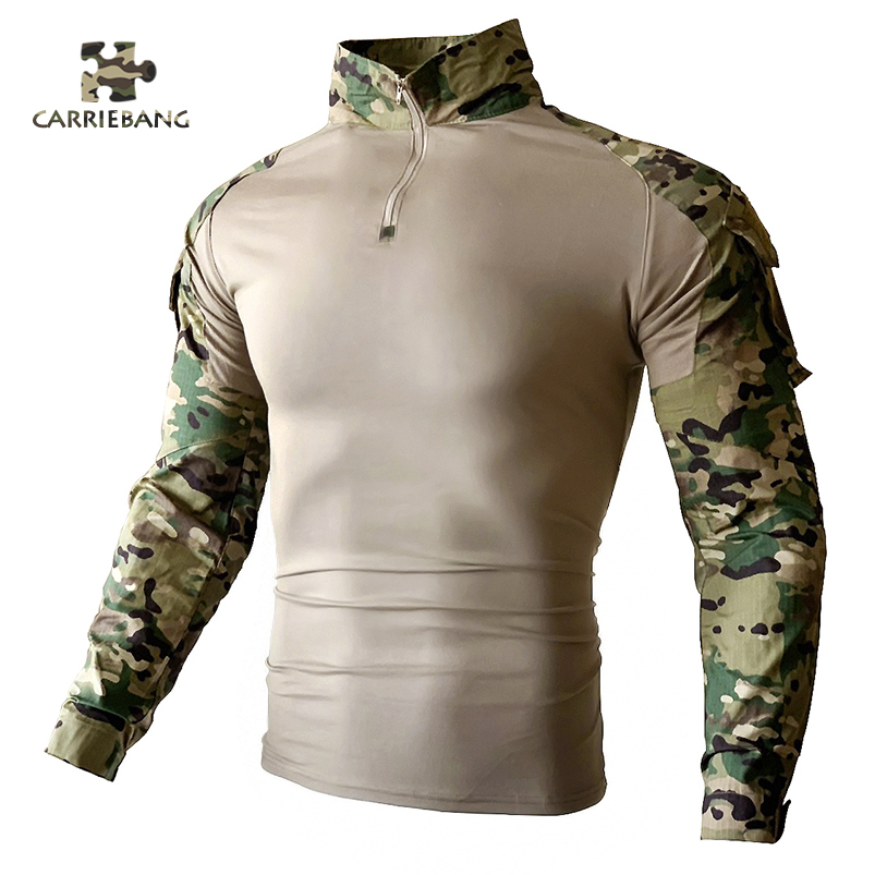 Military Equipment Tactical Men's Camouflage Airsofts Tops Long Sleeves Men's Zipper Tactical Clothing Overalls For Men Working