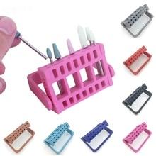 Профессиональный 1 шт. 16 отверстий Держатель мелких предметов для ногтей дисплей для электрического Bur выставочный дисплей er Маникюр Инструменты для ногтей