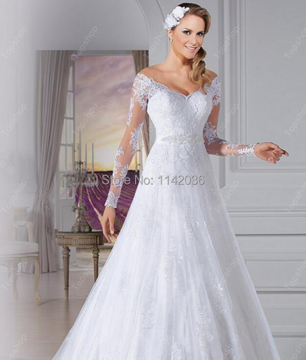 Latest Designs Sweetheart Lace Long Sleeves Vintage Wedding Dress ...