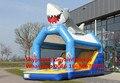 (Guangzhou, china) los fabricantes que venden toboganes inflables, tobogán tiburón obstáculos KY-704