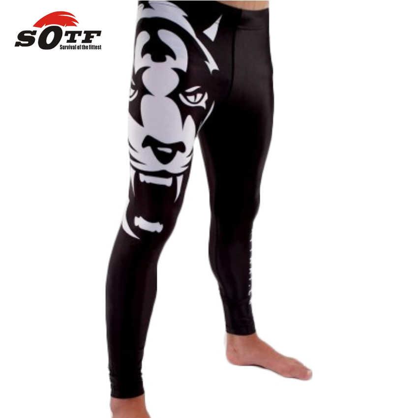 Sotf masculino mma boxe tigre respirável e confortável calças magras tigre muay thai topo rei muay thai shorts muay thai