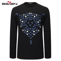 Seven Brand Long Sleeve T Shirt 2017 New Spring Summer Casual Fashion T Shirts Personality Style
