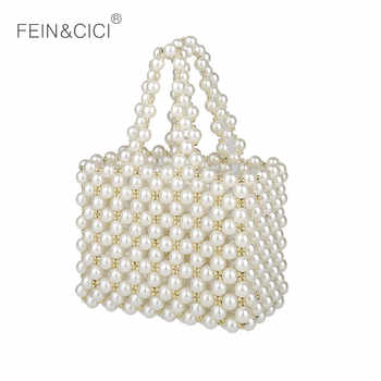pearls bag beading Vintage box totes women evening party Small mini handbag 2019 summer luxury brand wholesale wholesale - Category 🛒 All Category