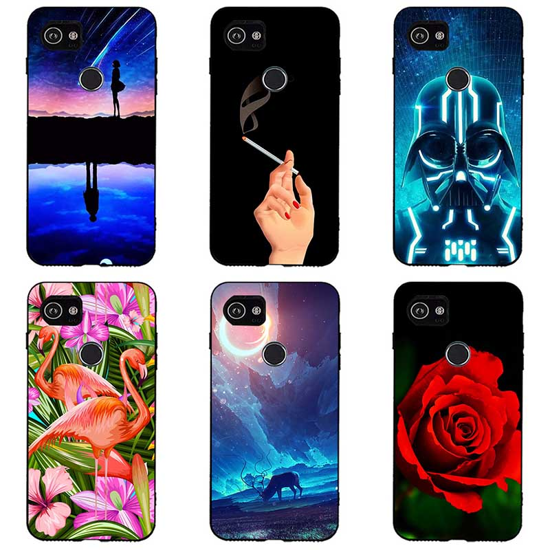 Colorful Painted Soft Silicone Cases For Google Pixel 3 Cartoon Animal Phone Cases Covers Soft For Google Pixel 3 Cover Coque